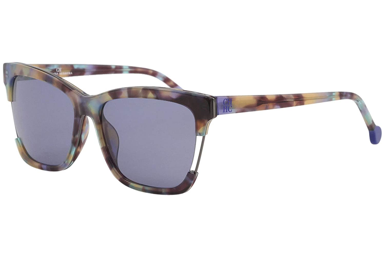 CH Carolina Herrera SHE752 SHE//752 05AH Rainbow Tortoise Square Sunglasses 56mm