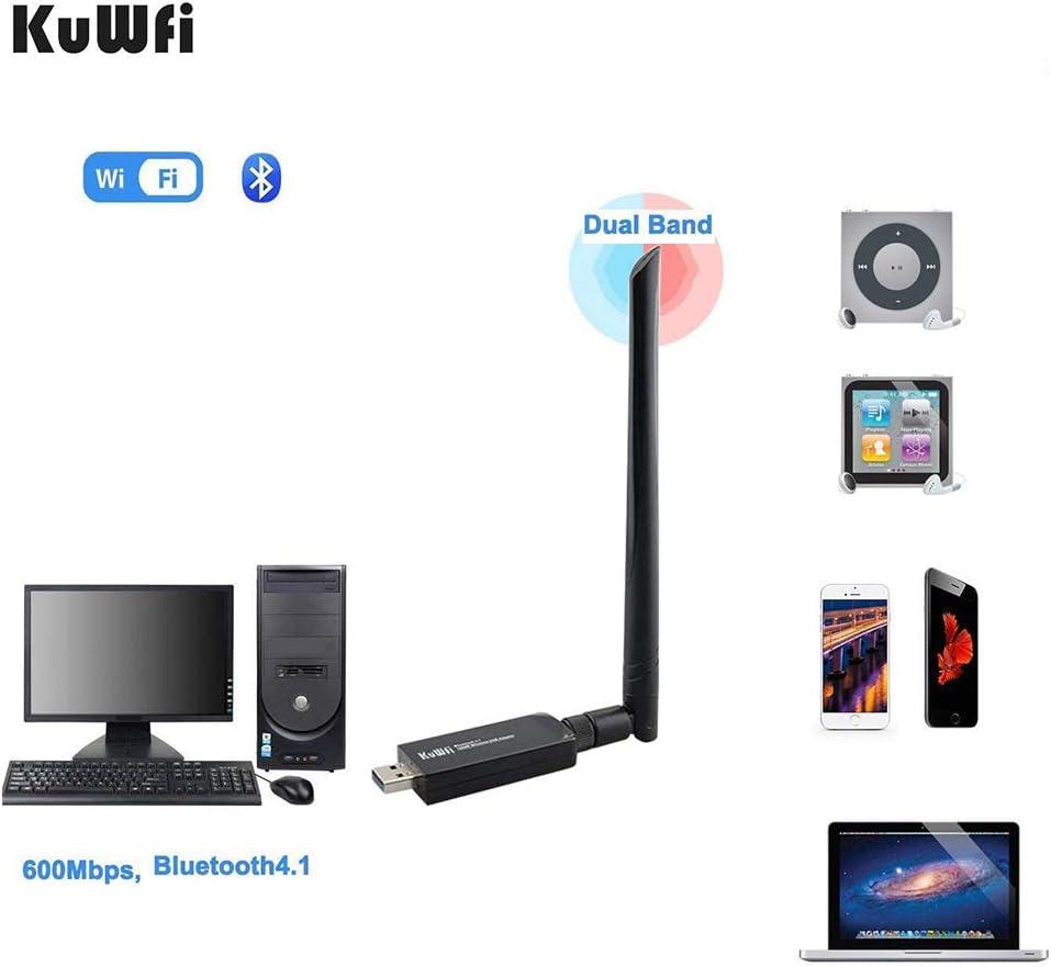 KuWFi Wifi Dongle, AC600 Dual Band Wireless USB WiFi ...