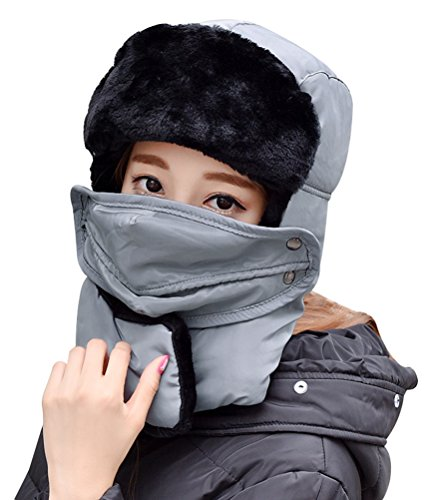 Womens Mens Trooper Hat Earflaps Warm Lining Hat rapper Hat Ski Caps Earflaps Aviator Hats