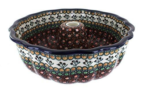 Blue Rose Polish Pottery Golden Pastures Bundt Pan