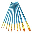 fine line paint brush - Marrywindix 10pcs Artists Paint Brush Set Acrylic Watercolor Round Pointed Tip Nylon Hair Pen Writing Brushes