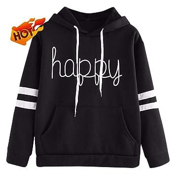 Women Sweatshirt For Teen Girl Yonlanclot Long Sleeve Soild Color Polluver Cute  Autumn Winter Sweater Sport f1c81170d