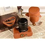 """TechCare """"Ever Ready"""" Protective Leather Camera Case Bag for Fujifilm X-M1 X-A1 (Light Brown)"""