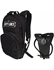 Hydration Backpack (Black) With 3 Liter Water Bladder - Features Multiple Storage Compartments - Daypack Used...