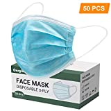 COSYLAND 50 PCS Disposable Face Masks Cover 3-Ply