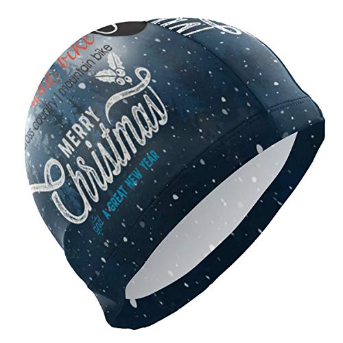 Mens Swim Cap Cover Ears,Christmas Closed Hardwood Ski and Bicycle Comfortable Swim hat Friendly fit Head Design