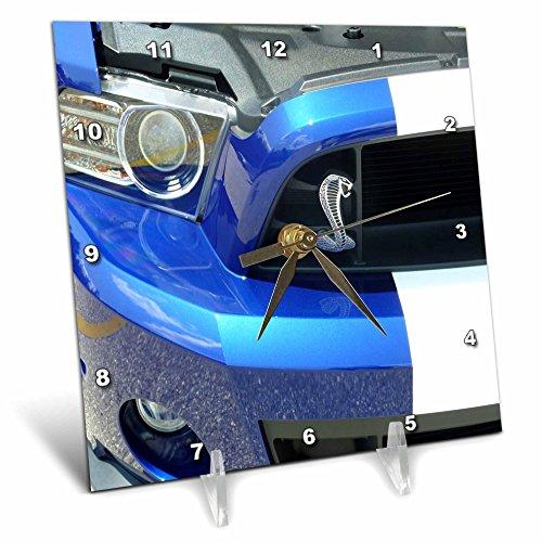 Cheap 3dRose dc_62394_1 New Mustang Cobra Beauty Desk Clock, 6 by 6-Inch