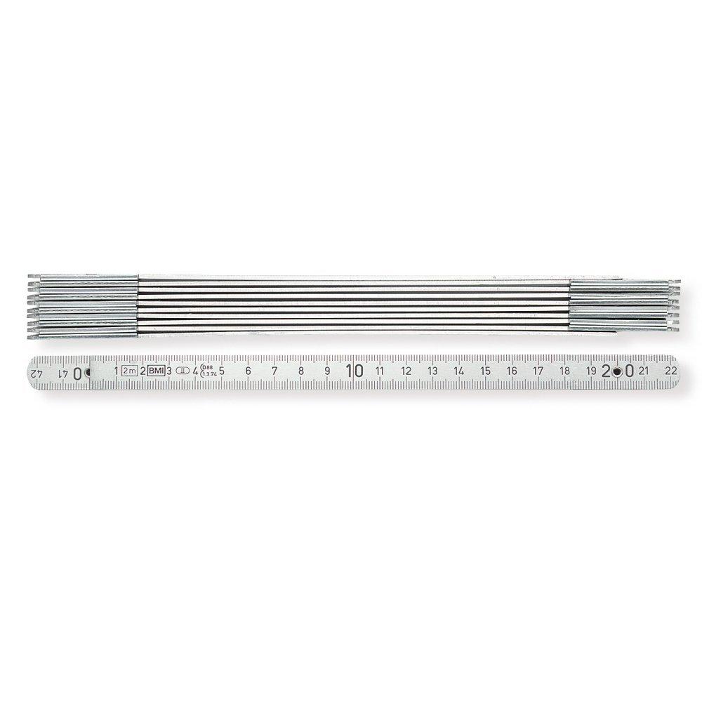 BMI 96162221 Aluminiumgliederma/ßstab silberfarben Gliederst/ärke 1.4 mm 2 m