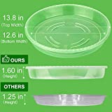 MUDEELA 6 Pack of 14 inch Plant Saucer, Durable