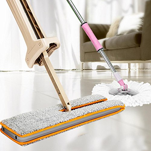 hot-ninasill-useful-double-side-flat-mop-hands-free-washable-mop-home-cleaning-tool-lazy-khaki