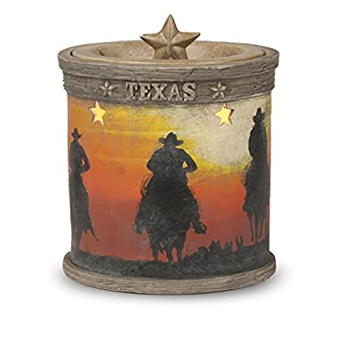 Texas Cowboy Electric Candle Warmer - The Perfect New Western Home Decor Accessory - Flameless Design Replaces Danger Scented Candles Making It One of the Best Aroma Diffusers *CLEARANCE ITEM