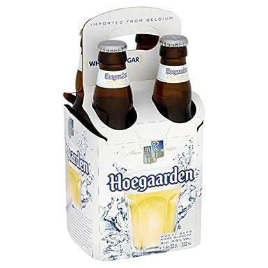 Hoegaarden botellas de cerveza belgas 4 x 330 ml: Amazon.es: Alimentación y bebidas