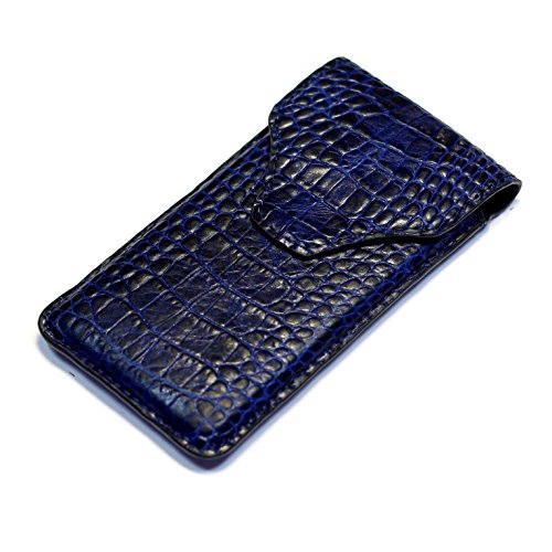 Fine Crocodile Alligator lettered pattern leather case Handmade Sleeve for Apple iPhone X 8 Plus 7 Plus iPhone 6 6S Plus iPhone 5S 5C iPhone SE Samsung Galaxy S Blue Crocodile Pattern Fine Leather