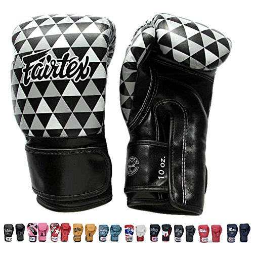 Fairtex BGV14 Microfibre Boxing Gloves Muay Thai Boxing, MMA, Kickboxing,Training Boxing Equipment, Gear for Martial Art (Optical, 12 oz) ()