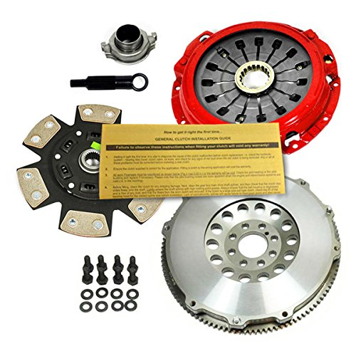 (EFT 6-PUCK CLUTCH KIT+ PRO-LITE FLYWHEEL 00-05 ECLIPSE GT GT-S SPYDER 3.0L V6)