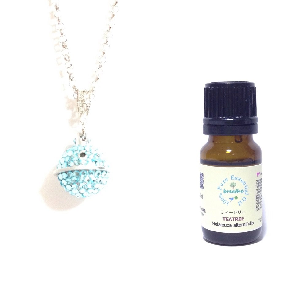 高い品質 aroma bijouxアロマペンダント土星 3月誕生石カラー 3月誕生石カラー アクアマリン+breathe精油ティートリー10ml 香りのギフトセットl aroma B07B7N7GNY B07B7N7GNY, 光工房:64834561 --- a0267596.xsph.ru
