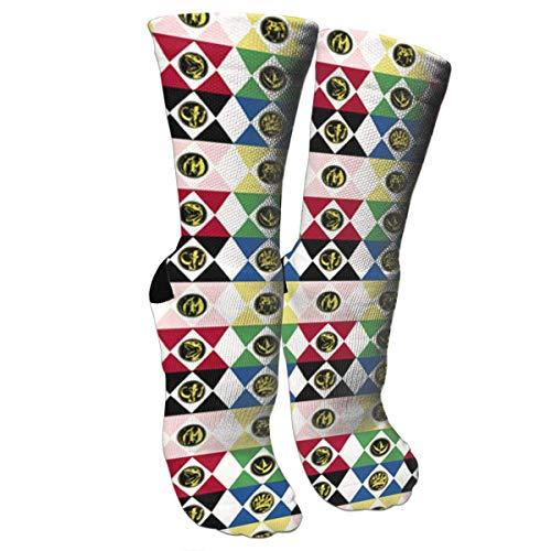 (Power Rangers Socks Crew Sock Crazy Socks Long Tube Socks Novelty Fun for Women Teens Girls)