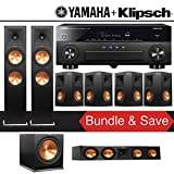 Klipsch RP-280F 7.1-Ch Reference Premiere Home Theater Speaker System with Yamaha AVENTAGE RX-A880 7.2-Channel 4K Network A/V Receiver