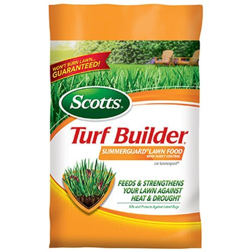 Scotts Turf Builder Lawn Food - Summerguard with Insect Control, 5,000-sq ft. (13.35lb.)  (Lawn Fertilizer plus Insect Control) (Best Lawn Fertilizer For Summer)