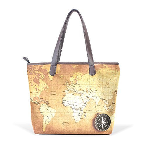 Grandi 33x45x13 L Pu Mappa Bag Multicolore Coosun Cm In Tesoro Borse 003 Bussola Pelle Gestire qwtWaSR