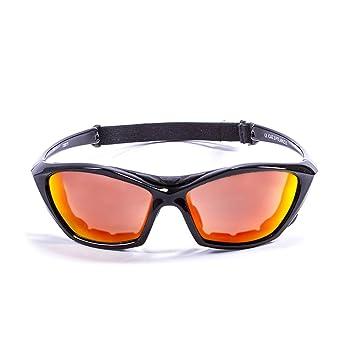 Ocean Sunglasses Lake Garda - Gafas de Sol polarizadas - Montura : Negro Brillante - Lentes