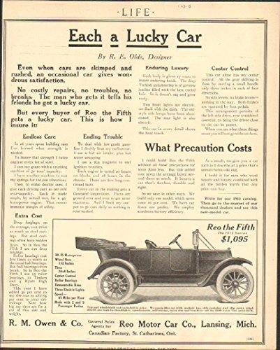 1913 Reo Motor Car Lansing MI Automobile Magazine Ad Pall Mall - Mall Mi