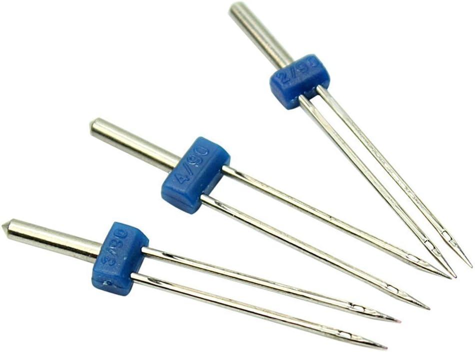 Durable Doble Twin Needles alfileres de Costura m/áquina de 6pcs