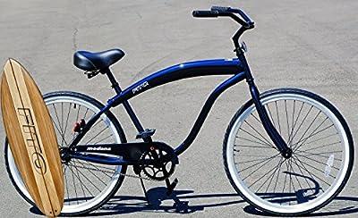 "Fito Modena Sport II Single 1-speed for Man - Midnight Blue, 26"" Wheel Beach Cruiser Bike"