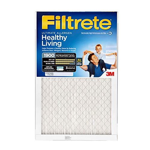 - Filtrete 16x25x1, AC Furnace Air Filter, MPR 1900, Healthy Living Ultimate Allergen, 4-Pack