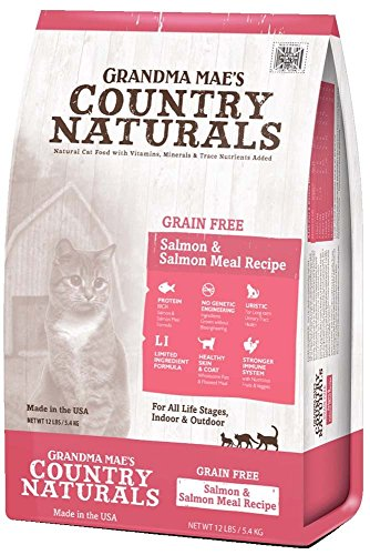 Grandma Mae'S 79700180 6 Lb Country Naturals Grain Free Salmon & Salmon Meal Cat Food, One Size