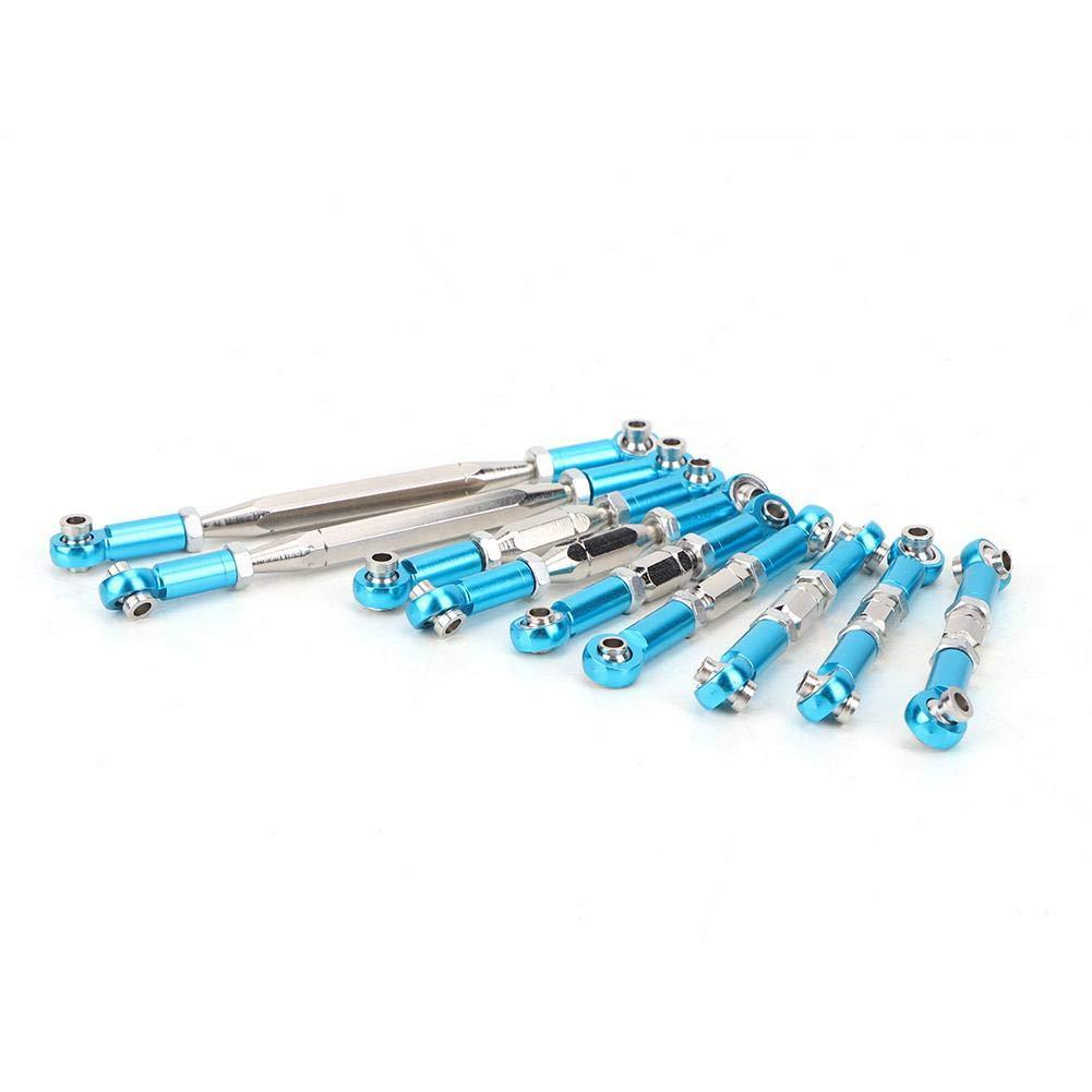9 ST/ÜCKE Einstellbare Verbindungsstange Kompatibel mit WLtoys 1//12 12428-A-B-C 12423 FY-03 Drfeify RC Verbindungsstange