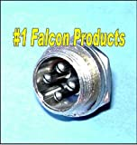 Falcon Products 4 Pin Microphone Panel Jack Plug for CB Ham Radios For Sale