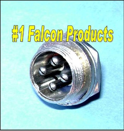 4 Mount Panel Pin (Falcon Products 4 Pin Microphone Panel Jack Plug for CB Ham Radios)