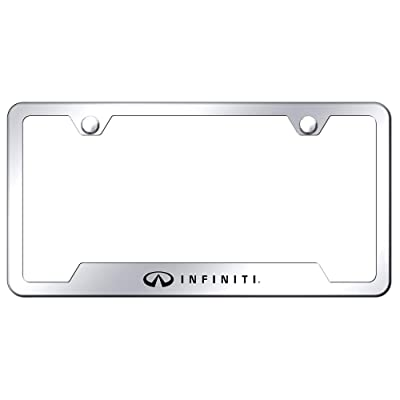 Infiniti Chrome Stainless Steel License Plate Frame: Automotive