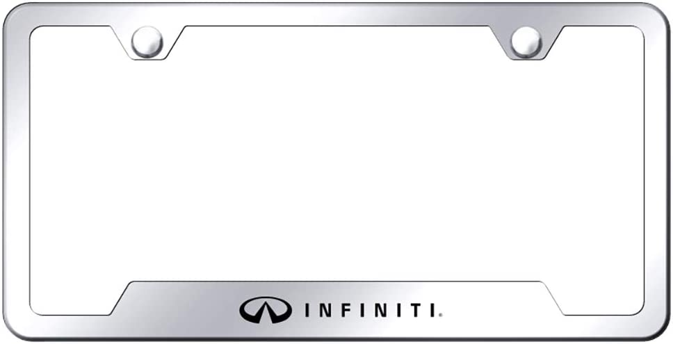 Nissan Infiniti Brushed Chrome Stainless Steel License Plate Frame