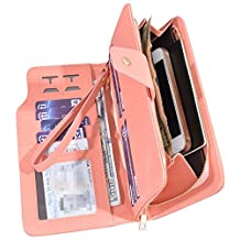 Womens Ladies Leather Wallets Zipper Purse Wallets RFID Credit Card Clutch Holder Case for Girl