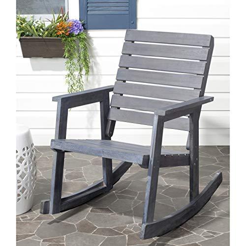 Safavieh Outdoor Collection Alexei Ash Grey Rocking Chair, White
