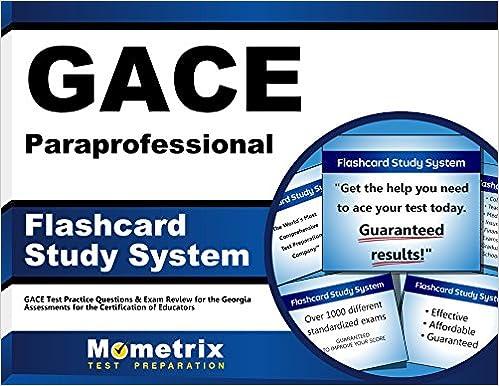 gace paraprofessional flashcard study system: gace test practice ...