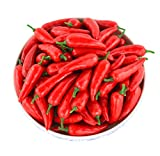 JEDFORE Simulation Artificial Lifelike Fake Vegetable Red Pepper Hot Chili for Home Kitchen Decoration 36pcs Set