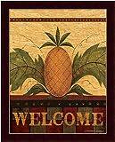 "buyartforless IF WAP 1040 14x11 1.25 Cred PlexiFramed "" Welcome Pineapple"" By Warren Kimble Folk Art Print poster, 14"" X 11"""