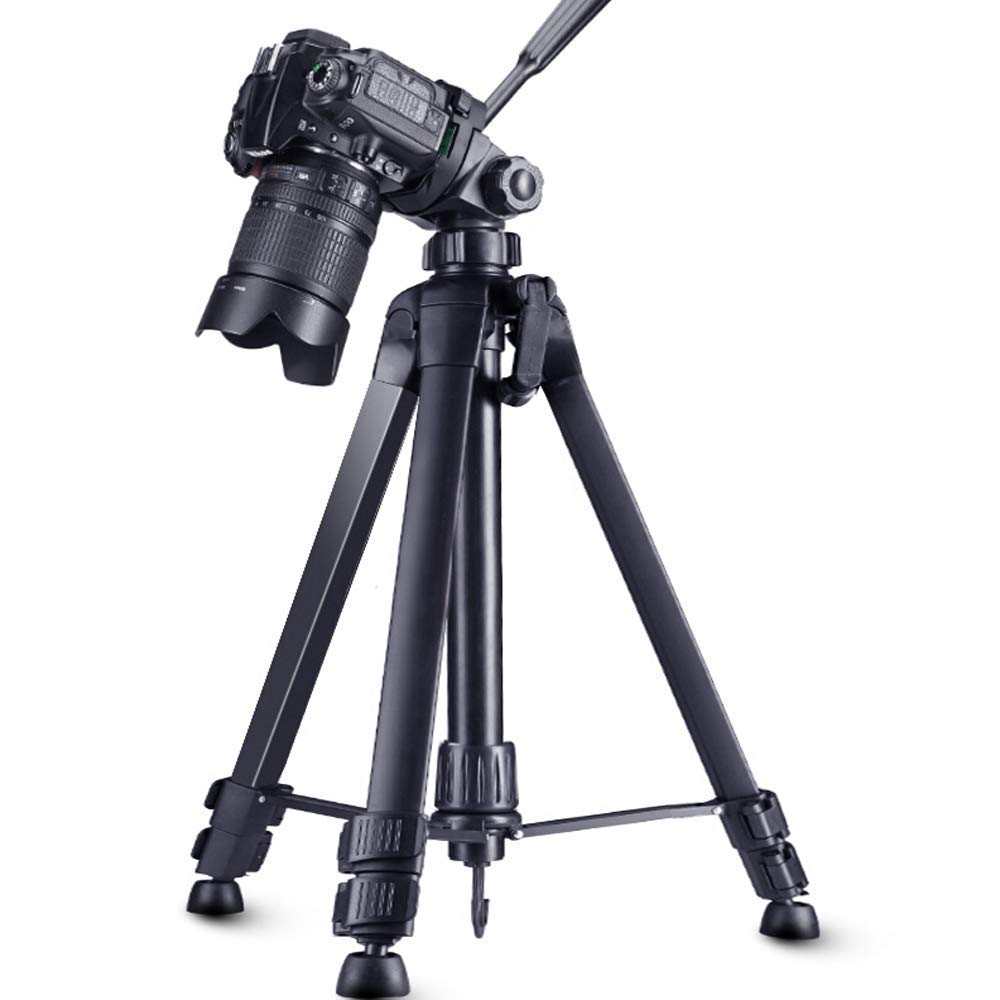 XHHWZB Camera Light Tripod, Compact Travel Tripod 70.86''/1.8cm with 3-Way Head, 3KG Load Capacity for DSLR (Size : 1.8 Meters high) by XHHWZB