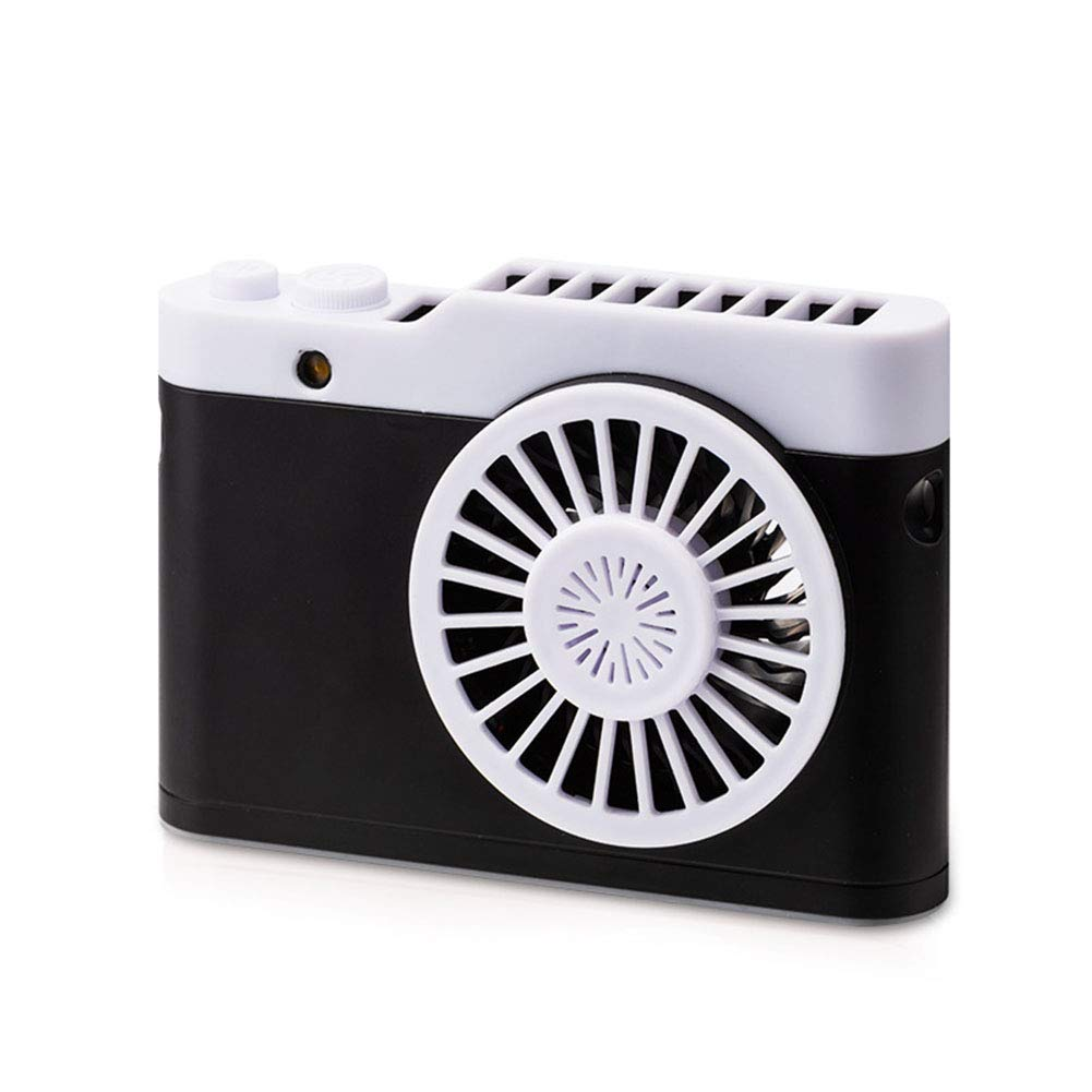 RONSHIN Fans Portable Fans Portable Tabletop Battery Operated Mini Camera Shape USB Rechargeable Hanging Fan Black 126mm86mm40mm by RONSHIN