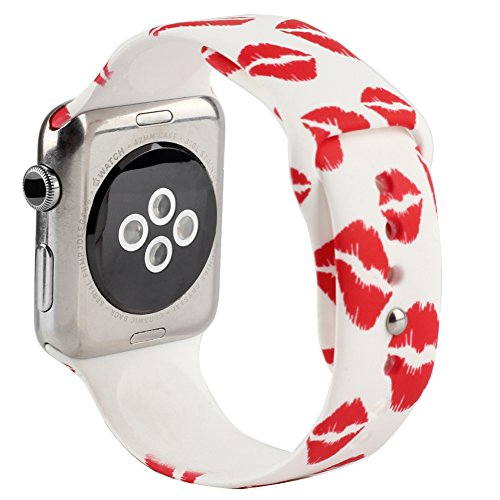 AnBell Replacement Band for Apple Watch, Strap Bands for iwatch, Silicone Sport Style Wristband, Personalized Design, 16 Colors, Both 38mm and 42mm Models Available