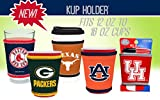 Kolder NCAA Logo Coolie Cup Holder Sleeve Fitting Plastic Cups, Pint Glasses, Coffee Cups, Ice Cream, Etc. - Neoprene and Bottomless (Ohio State Buckeyes)