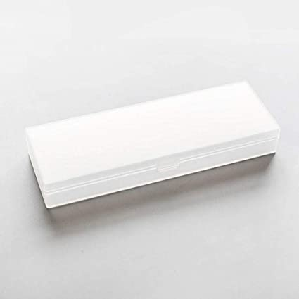 wdoit estuche transparente lápiz caso funda multifunción estuche Scrub estuche con cremallera para mujeres damas estudiantes, PP, 6.5 * 18 cm, color Blanco 6.5 * 18cm: Amazon.es: Oficina y papelería