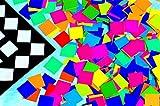 School Smart Spectrum Square Mosaic, 3/4