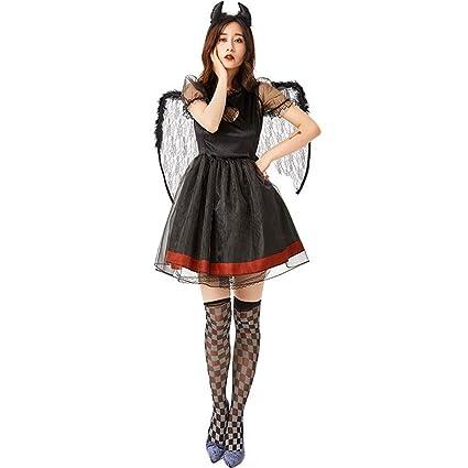 Amazon.com: Disfraz de ángel negro caído para Halloween ...