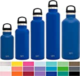 kids thermal water bottle - Simple Modern 16oz Ascent Water Bottle - Stainless Steel Hydro Kids Flask w/Handle Lid - Double Wall Vacuum Insulated Navy Reusable Tumbler Small Metal Coffee Leakproof Thermos - Twilight