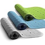 casa pura® XXL Badewanneneinlage Olivia | rutschfest | Lochung für optimalen Wasserabfluss | PVC-frei | 36 x 97 cm | drei Farben (grün)