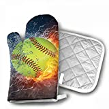 Fire Softball Customized Mouse Pad Rectangle Mouse Pad Gaming Mouse Mat MP2264 Grill Oven Gloves ¨C Heat Resistant Gloves ¨C BBQ Gloves Cooking, Grilling, Baking